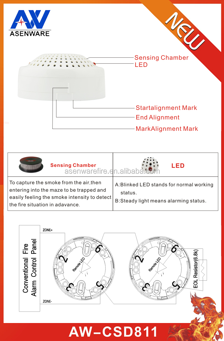 Smoke Detector Wiring Connect Alarm Bell With Fire System Diagram