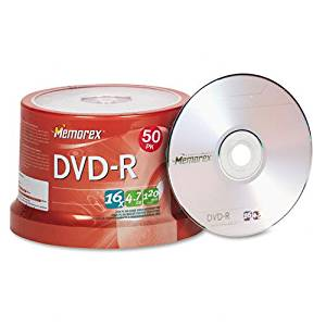 Memorex : Disc DVD-R 4.7GB for General use 16X 50/spindle16X 50/spindle -:- Sold as 2 Packs of - 50 - / - Total of 100 Each