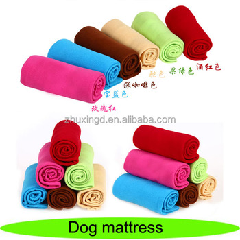 Soft coral fleece pet mat, colorful puppy pads, dog mattress