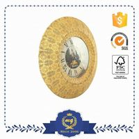 Top Selling Wholesale Round Young Town Quartz Wall Clock