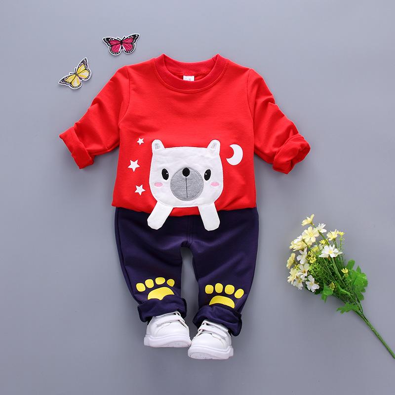 New đến mùa xuân và mùa thu trẻ em quần áo bé trai thể thao giản dị bé trai bé mặc quần áo quần áo trẻ em set