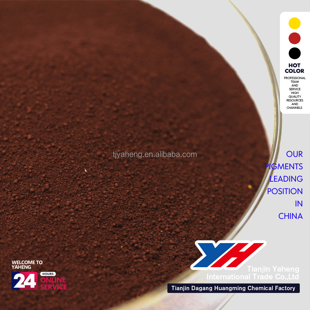 Inorganic Pigment Style and Iron Oxide Type rubber brown paint