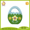 New products Easter candy egg felt bag with flower