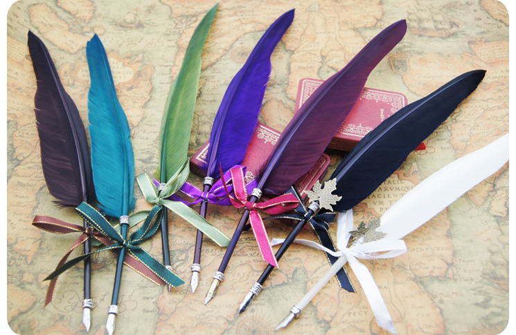 Creative plastic feather quill pen