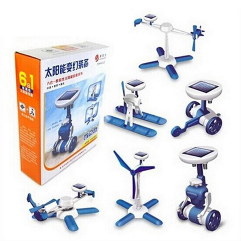 Wholesale Diy Science Assembly Kit Energy System Educational 6 in 1 Solar Toy For Kid