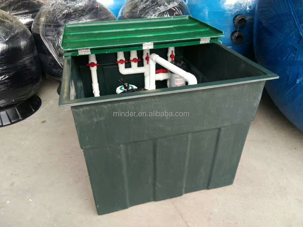 Swimming Pool Sand Filter,frp sand filter box,Underground complete filtration system