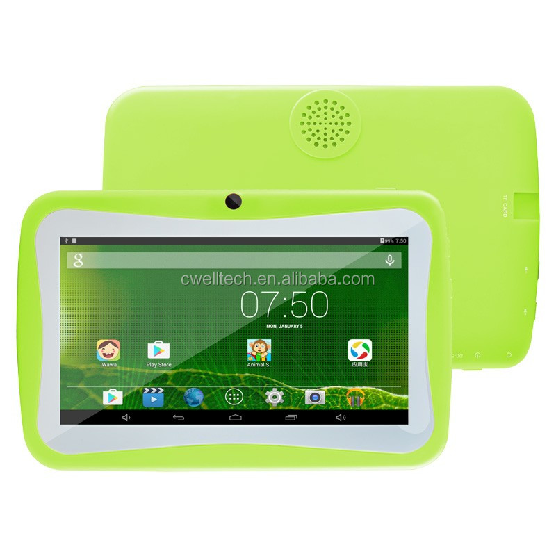 Boxchip Q704 7 Inch Quad Core 8GB ROM CE Mooie Multi-color WiFi 2500mAh Batterij Luidspreker Android educatief Kids Tablet PC