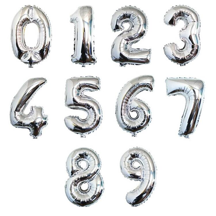 40 Inch Large Size Number Shaped Foil Number Balloons for Anniversary Birthday Wedding Decoration