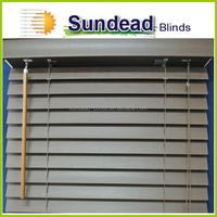 faux wood Indoor Venetian blinds 2'' inches vinyl Faux Wood blinds office curtains and blinds