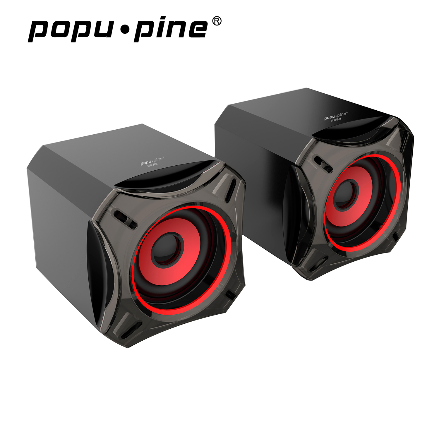 New big bass wired usb speaker, 5V poder 2.0 pc computador mini speaker