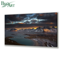 Dark psychedelic landscape painting custom art prints photo printing on aluminum