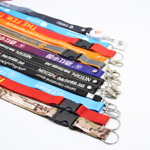 Cheap Sublimation printed neck custom lanyard logo with id card holder neck strap
