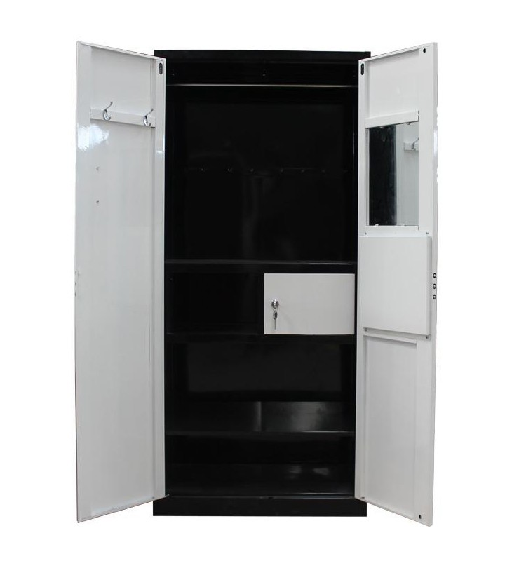 2 Door Cupboard Inside Designs latest bedroom furniture designs 2 door metal wardrobe with mirror