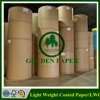 Cheap price LWC paper light weight coated paper printing paper in sheet