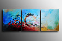Modern Abstract Blue Oil Paintings