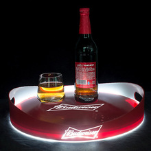 Illuminated light up drinks serivce tray caddy for vodka,wine, brandy, whiskey