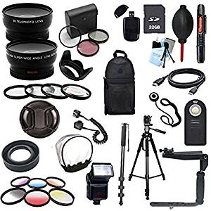 Canon SL1 100D Digital SLR Deluxe Camera Accessory Bundle (Fits: EF 50MM F/1.4 USM, EF 85MM F/1.8 USM, EF 75-300MM F/4-5.6 IS STM, EF-S 55-250MM F/4-5.6 IS STM)
