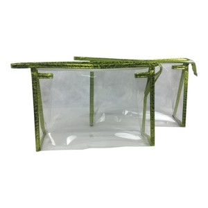 Fashion designer unique factory cosmetic bag transparent pvc makeup bag