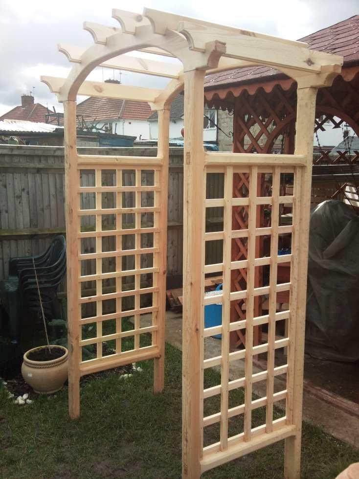 Arche rosier fer forge - Arcos de madera para jardin ...