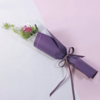 Promotion high transparence special design plastic bag flower sleeve