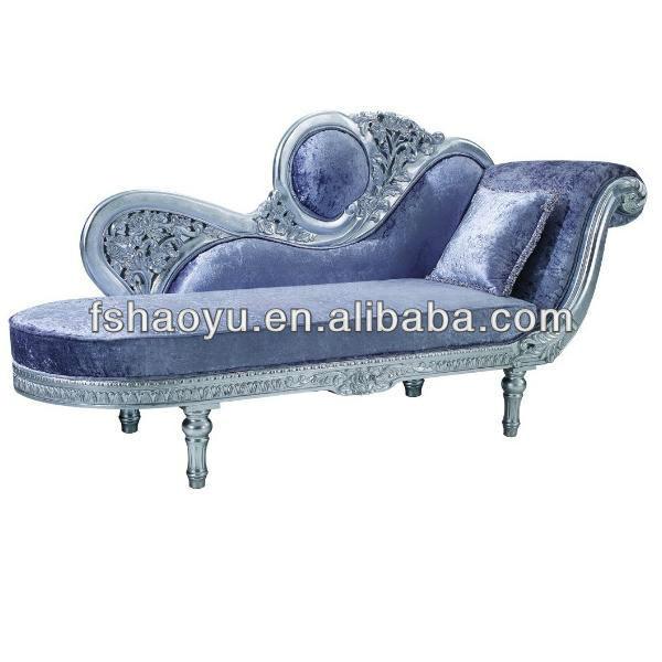 Luxury Antique Chaise Lounge Sofa