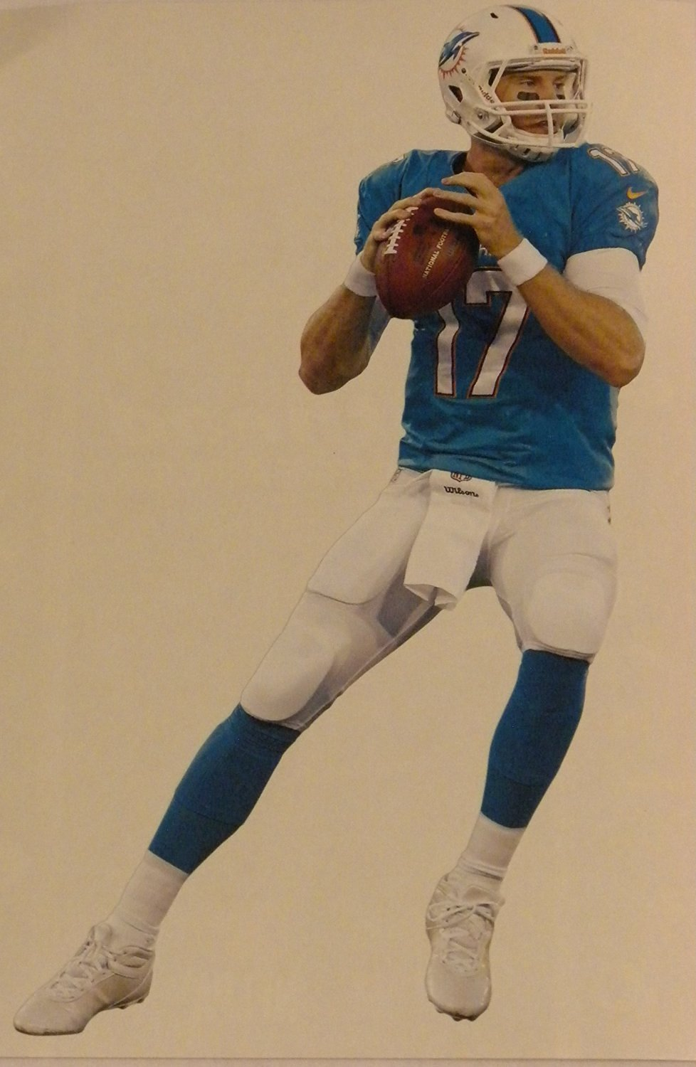 """Ryan Tannehill Mini FATHEAD Miami Dolphins Official NFL Vinyl Wall Graphic 7"""" INCH"""