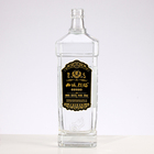 Promotion Vodka Glass Vodka Bottle China Factory Promotion Economy Glass Vodka Bottle 750Ml With Decoration