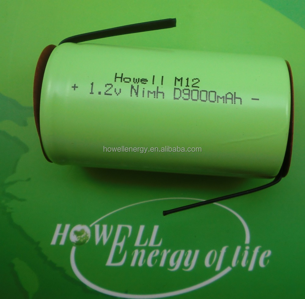 robot vacuum cleaner battery 1.2V D9000mAh nimh rechargeable batteries D9000