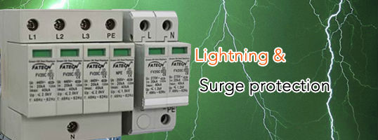 220V three phase power surge protector, Modular surge arrester device