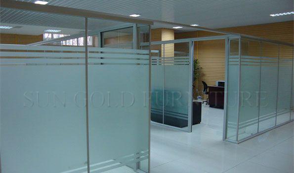 Kleine kantoor cubicle partitie aluminium profiel voor frosted glazen scheidingswand sz wsp375 - Verwijderbare partitie ...