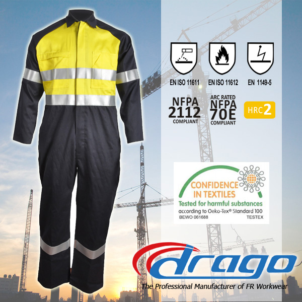 Uv protective welding industrial safety flame retardant clothing