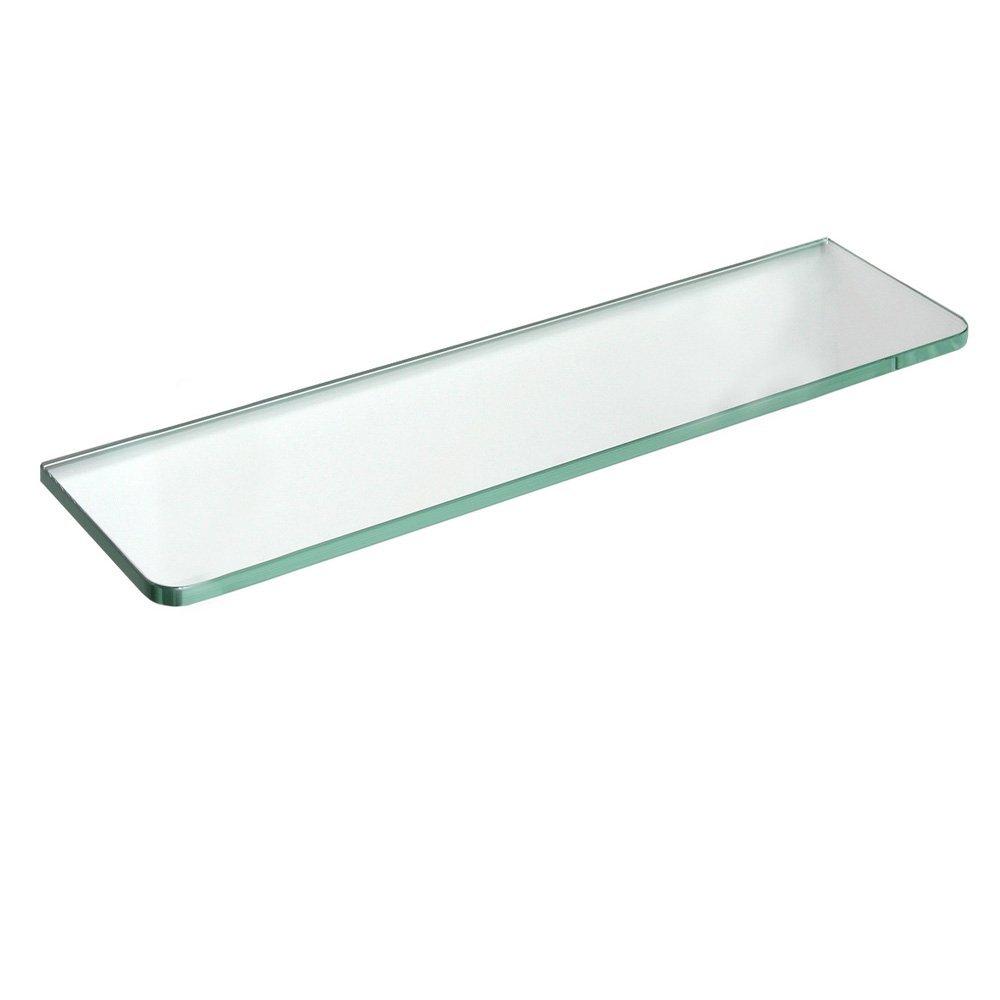 Get Quotations · Dolle Tempered Glass Shelf   GlassLine Rectangle Shelf  With Round Corners   24 X 12 X