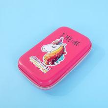 Чехол-карандаш в виде единорога с фламинго, школьные принадлежности кавайи estuche escolar, чехол-карандаш kalem kutusu, 3D Пенал(Китай)