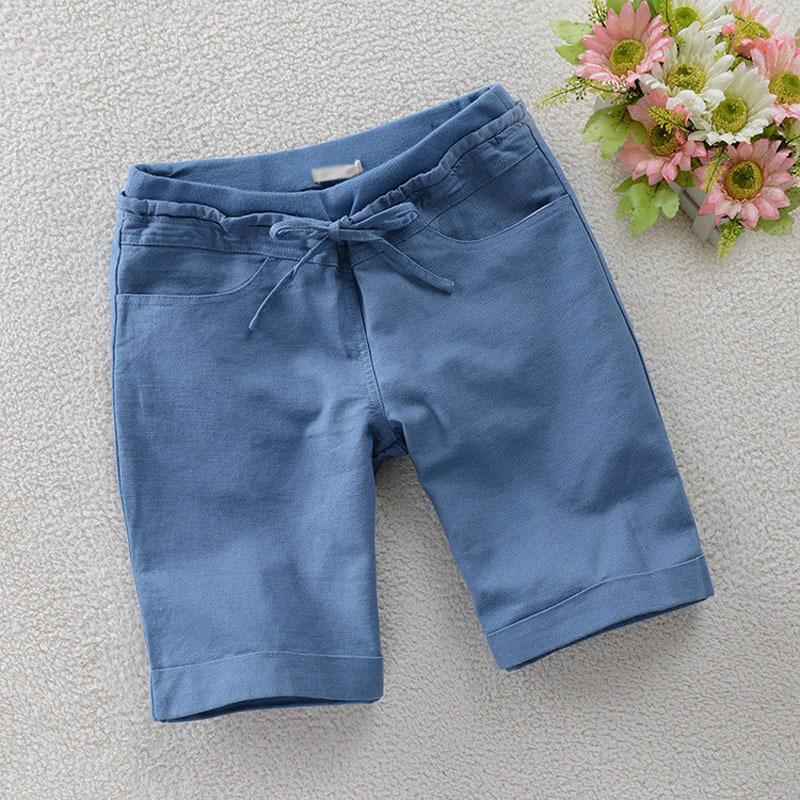 М-4xl Большой размер белья хлопок широкий 2015 летний новый шорты женщин короткий Feminino свободного покроя женские одежды дамы шорты конфеты цветов