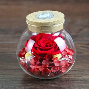 50th wedding anniversary gifts preserved natural real rose flower in glass jar