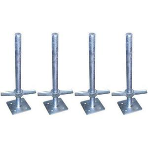 34x600mm Height Adjustment Small pipe Screw Jack Base stands