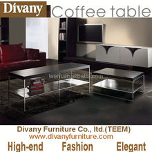 Divany Furniture modern living room furniture peel and stick mirror sticker stainless steel coffee table
