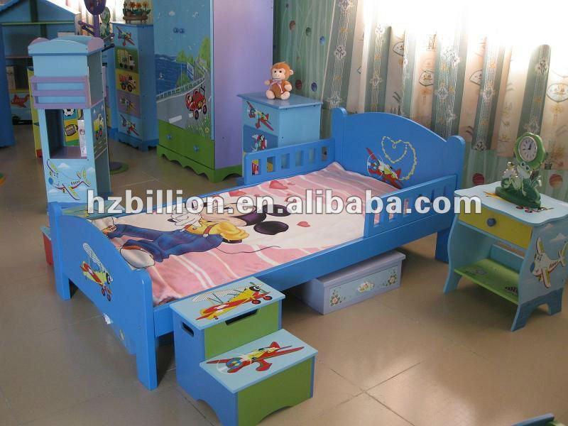 Niños De Madera Maciza Cuna Para 3-15 Años Niños Muebles Con Alto ...