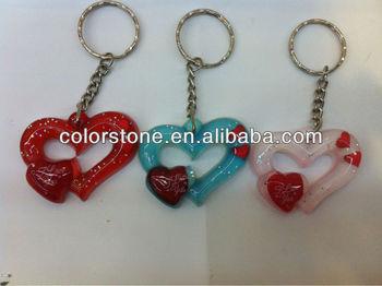 Valentine S Day Keychain Valentine Keychain Double Hearts Key Chain