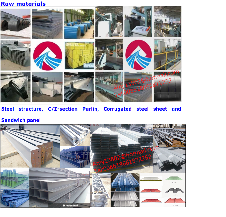 Steel frame prefab house steel structure warehouse building