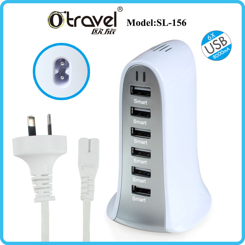 Universal usb cable charger,light up 6 port usb charger with cable, micro usb charger cable