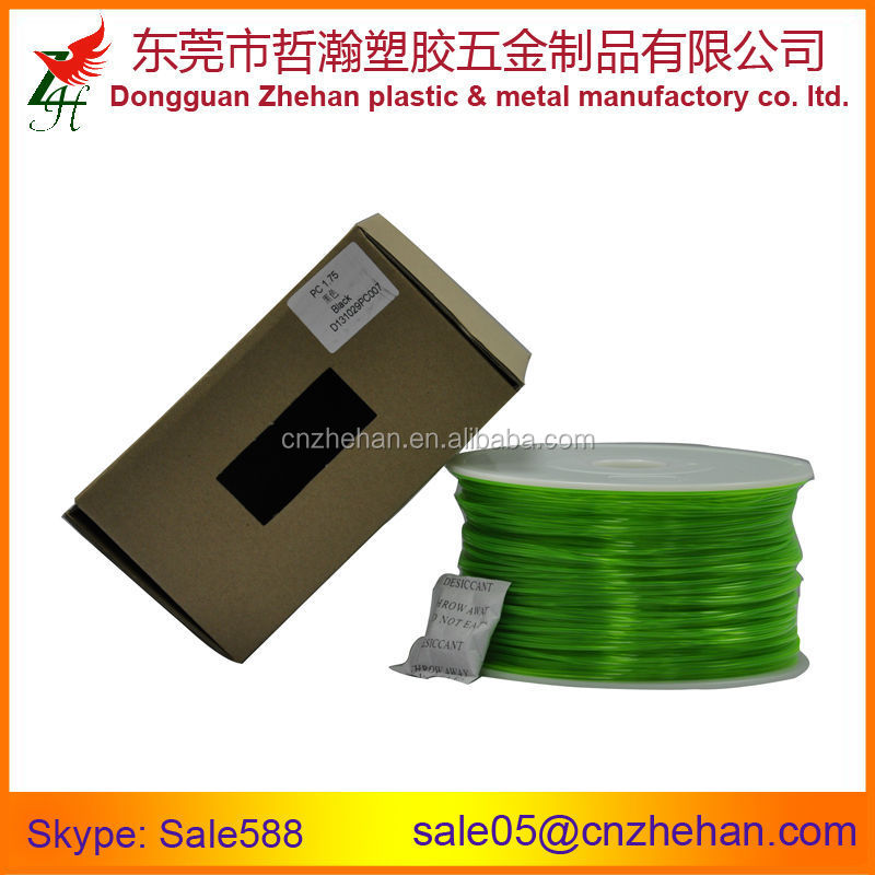 High quality empty plastic spool HIPS/PC/PLA/ABS 3D printer filament with ROHS certificate
