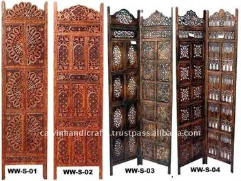 Colored Folding Screen Room Divider Antique Wooden Privacy Screens Dividers