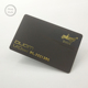 China Manufacturer Embossed Number Hard Plastic Black Metal Golden Business Cards for sales
