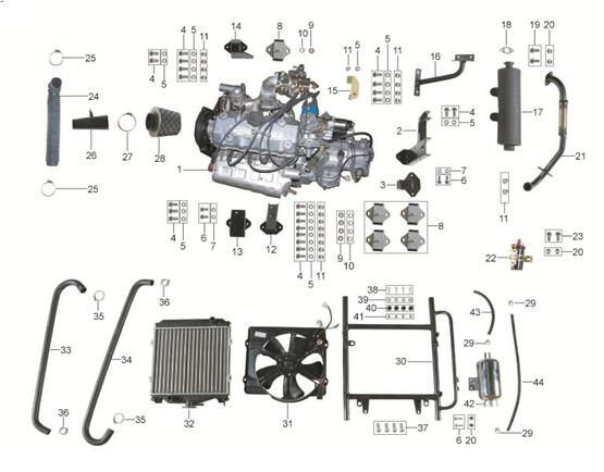 Kinroad 110cc buggy xt1100gk 2a spare parts engine for Go kart interieur