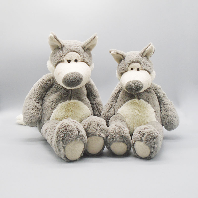 wholesale custom stuffed wolf plush dolls high quality toys