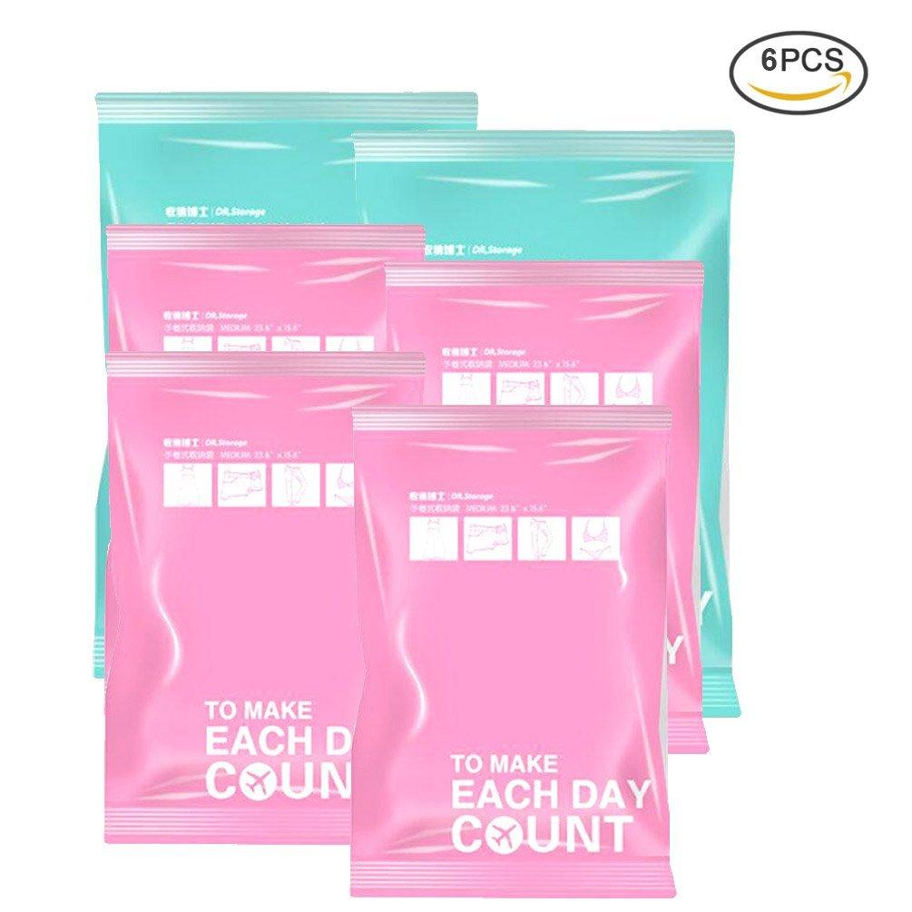 Get Quotations Uarter Roll Up Vacuum Bag E Saving Compression Bags Manual Travel Saver Reusable