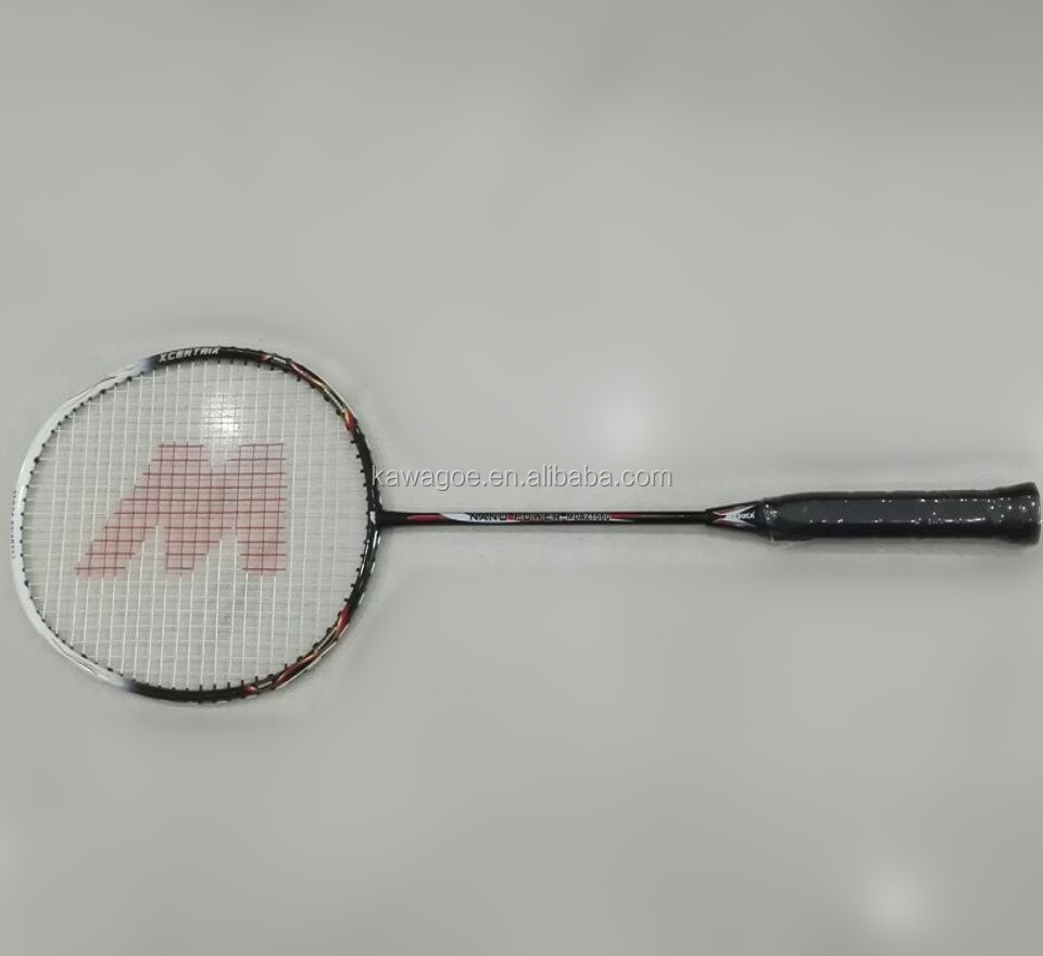 89g carbon firbe badminton racket in voorraad
