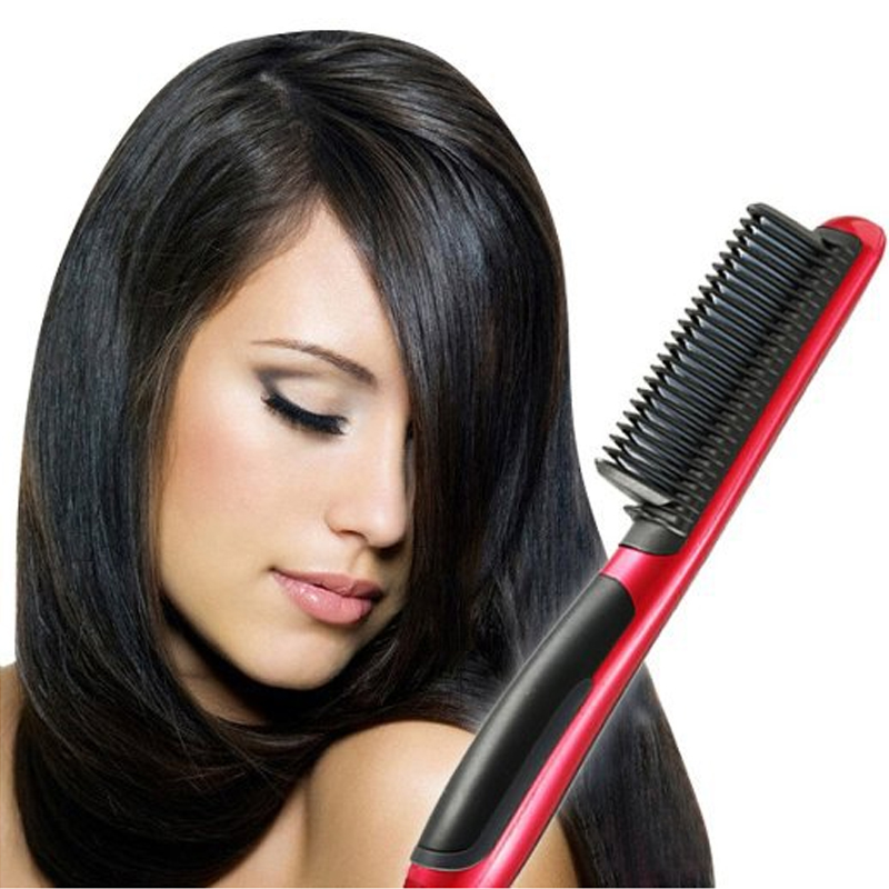 Electric Straightening Comb On Natural Hair