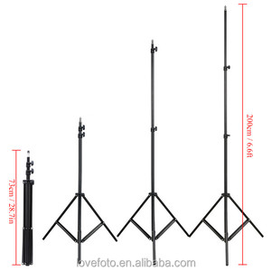Photography Wholesale Professional Photo Studio Light Stand/tripod Led Light Stands
